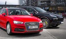 Pinsam miss i nya laddhybrider från Audi och Porsche
