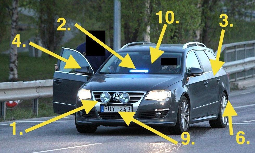 montera dragkrok på bil med backsensor