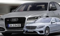 Audi S8 Plus kör ifrån konkurrenten Mercedes S 63 AMG