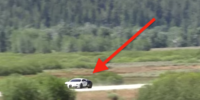 Så ser det ut när Bugatti Veyron kör 396 km/h