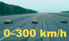 0–300 km/h: McLaren P1 mot LaFerrari och Porsche 918