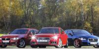 TEST: Audi A4 mot BMW 3-serie och Jaguar XE