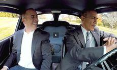 Jerry Seinfeld och president Barack Obama – i en Corvette 1963