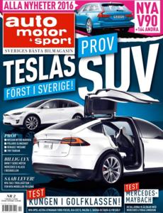 2/2016: Vi provkör Teslas suv