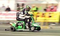 Världens snabbaste elskoter för rörelsehindrade körde 173 km/h