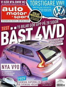 6/2016: 15 bilar i 4WD-test – Allt om nya Volvo V90