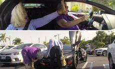 """När farmor kör Lambo: """"Skulle kunna bränna gummi, men bilen framför är så jä*la långsam"""""""