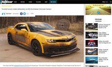 Peders Camaro visas på Top Gears hemsida
