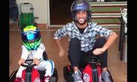 F1-föraren Daniel Ricciardo får stryk av Felipe Massas son, 6 år