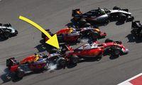 Daniil Kvyat kör på Sebastian Vettel två gånger – som blir vansinnig
