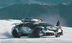 Jon Olsson kör Lamborghini Murciélago uppför glaciär