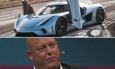 Christian von Koenigsegg om första prototypen och frysta kycklingar