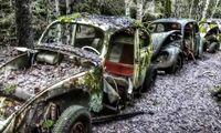 Udda platser: Besök Sveriges märkligaste bilkyrkogård