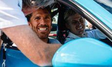 Marcus Ericsson körde Henrik Lundqvist i Porsche 911 GT3 RS
