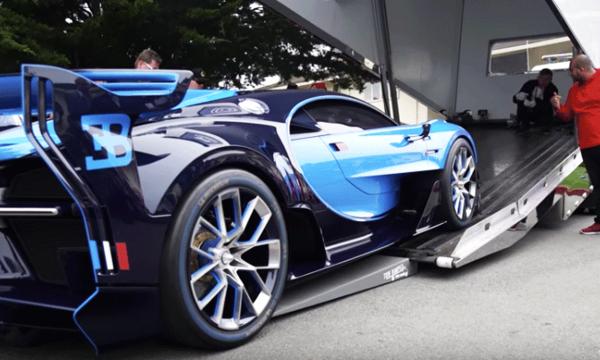 Nervpirr när ovärderlig Bugatti lastas