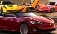 7 galet snabba bilar som är långsammare än Tesla P100D