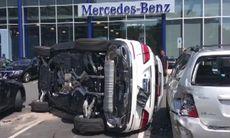 Provkörningsrekord: kraschade fyra bilar på sex sekunder