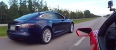 Tesla P100D mot Lamborghini Huracan