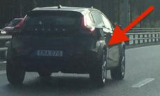 Vad är det för mystisk bil som Volvo testkör här?