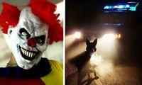 """Polisen varnar mördarclowner: """"Tänk på vad som väntar i mörkret!"""""""