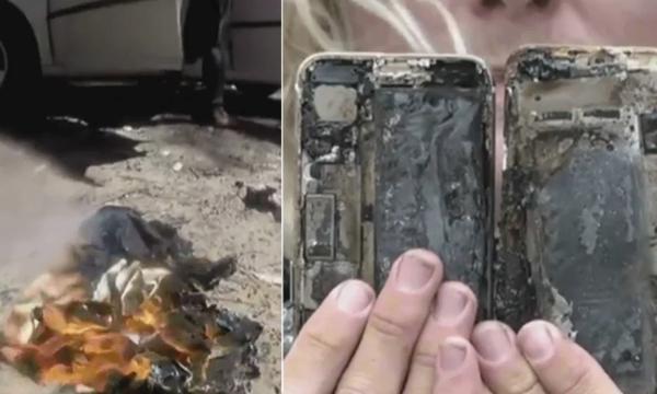 """iPhone kan ha exploderat: """"Bilen förstördes"""""""