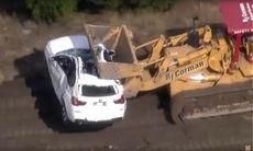 Tågolycka i USA – ett hundratal BMW-suvar blev skrot