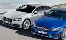 Coupékampen: Mercedes CLA attackerar Audi A5 och Volkswagen CC